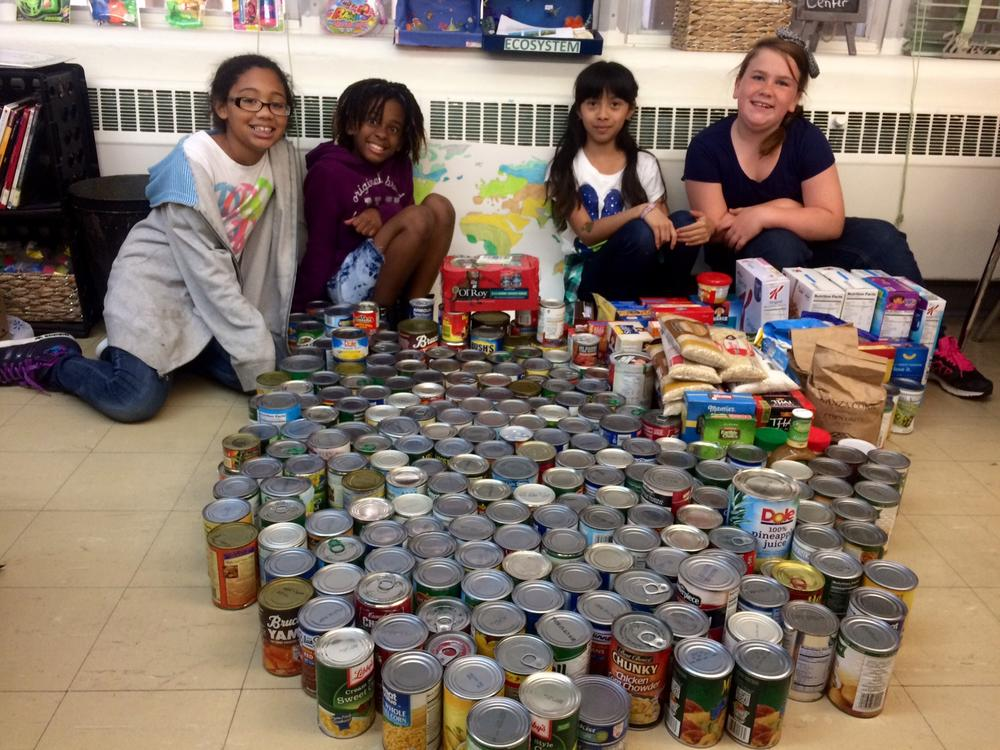 Food Drive canned goods